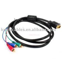 VGA a 3 RCA Cable Para PC RGB LCD HDTV