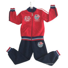 Boy Sports Suit in Children Clothes for Winter Hoodies Suits with Zipper Swb-103