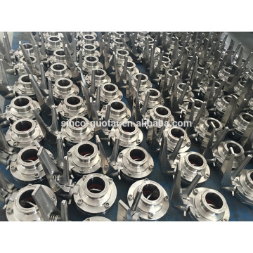 304/316L sanitary tri clamp butterfly valve