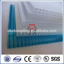 Hoja de policarbonato de pared triple de 10 mm / hoja de policarbonato de pared de 10 mm de 3