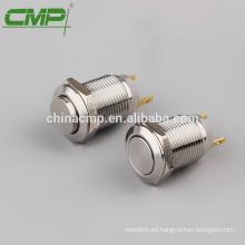 Interruptor de botón plano de 12 mm impermeable pequeño CMP impermeable