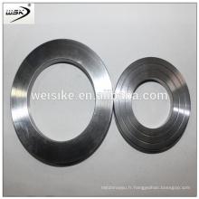 Weiske Structured metal ss Joint à anneau ovale plat