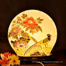 Charactizing una multa primavera nuevo diseño de lámpara de cerámica lámpara decorativa