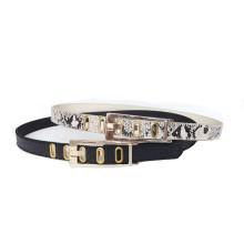 Classic Style Narrow Buckle PU Belt (KY3505)