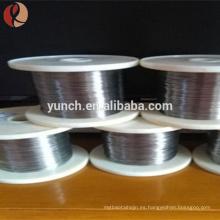 Precio de fábrica del alambre de níquel ruso 0.025 Mm para la capa del vacío