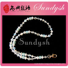 Wholesle Jewelry Bling Crystal Beaded Shiny String Lanyard