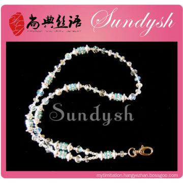 Wholesle Jewelry Bling Crystal Beaded Shiny String Lanyard