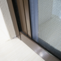 Fiberglass retractable screen door for french doors