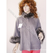 Cashmere Cardigan with Silver Fox (HM-YZ-SWF09003)