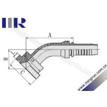 45 Grad SAE Flansch 6000 Psi Interlock Schlauchverschraubungen (87643)