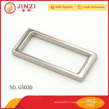 La Chine fabrique une boucle décorative décorative en alliage de zinc de qualité supérieure