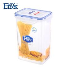 Small Food Plastic Pantry Contenedor de almacenamiento de comestibles con tapas