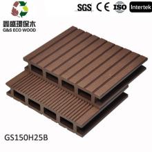 Tableros compuestos plásticos de madera / decking hueco de los 150 * 25MM