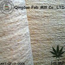 Tejido de cáñamo / tejido reciclado de poliéster (QF13-0006)