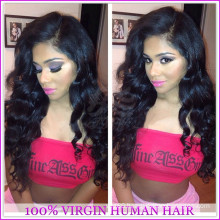Fashion cheap 100% virgin brazilian human hair full lace silk top full lace wigs