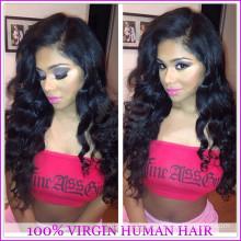 Мода дешевые 100% Виргинские бразильского человеческих волос полный шнурок шелковый топ полное кружева парики