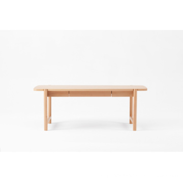 Table basse moderne en bois de hêtre allongé