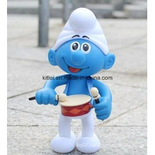 Customized Mini Action Figure Cartoon ICTI Cute Blue Kids Toy