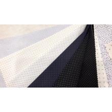 Tela de camisa estampada dobby de algodón polivinílico para hombre