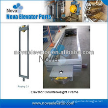 Roping 2:1 Elevator Balance Counterweight Frame
