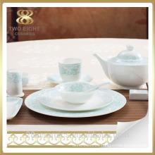 Wholesale luxury fine bone china dinner, china dinner ware, luxury dinner set