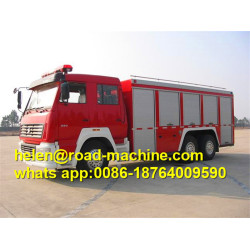 Sinotruk Chassis Aerial Ladder Fire Fighting Truck