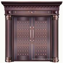 Copper modern front entry door