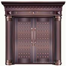 Porta de entrada frontal moderna em cobre