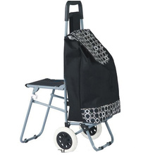 folding chair trolley with wheels
