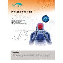 Extracto de soja natural Fosfatidilserina 20% -70% min en nootrópicos