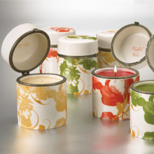 Eco-Wick fragrant candle in ceramic container