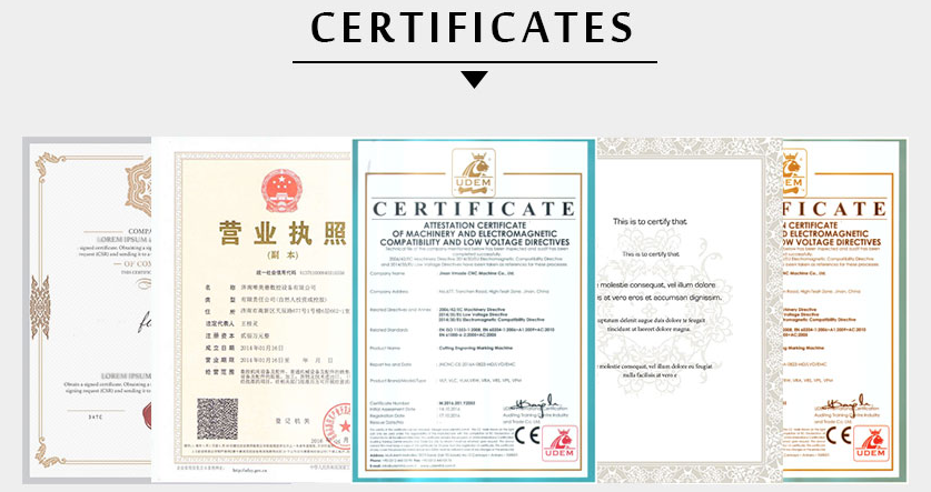 FIBER LASER CUTTING MACHINE Certificate