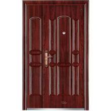 Lujosa puerta de madera de acero blindada de Turquía