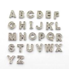 Encantos da letra de cristal DIY um z alfabeto encantos flutuante