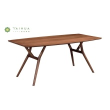 Solid Wood Dining Table with Round Slim Legs