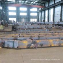 Soldagem de aço pesado para peças de máquinas de construção