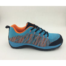 Nuevo diseño nuevos materiales tela Flyknit seguridad zapatos (16063) de funcionamiento