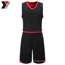 YNBJ002 Barato Juventude Atacado Em Branco Novo Melhor Últimas Basquete Jersey Uniforme Logo Design Personalizado China Cor Azul