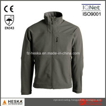 Zipper Closure Outdoor Softshell Jacket