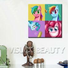 Pop art da decoração do Pinkie do arco-íris