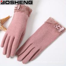 Guantes calientes de la mujer de la manera, guantes hechos punto invierno