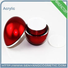 Red round acrylic packaging jar acrylic cream jar for cosmetic packaging