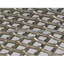 Alta / Baixa de Aço de Carbono Vibratória Tela de tela quadrada de arame frisado Fabricante