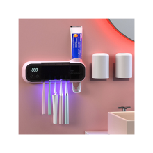 Porte-brosse à dents multifonctionnel Porte-brosse à dents électrique Distributeur de dentifrice mural Porte-brosse à dents mural
