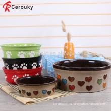 Schöne Design Keramik Salat Schüssel, benutzerdefinierte Porzellan Steinzeug Salat Schüssel