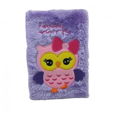 PURPLE OWL PLUSH NOTEBOOK-0