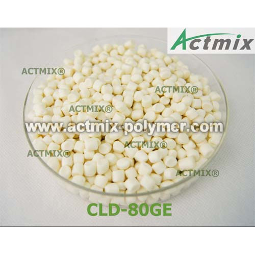 Non-staining sulfur donor vulcanizing agent CLD-80