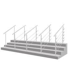 Barandilla de escalera extraíble de acero inoxidable ajustable