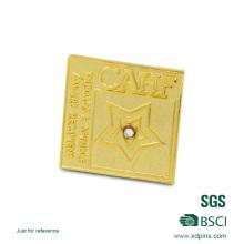 Badge métallique en forme de coeur pour cadeau (XDBG-352)