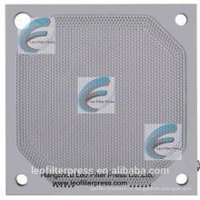 Membrane de presse de filtre de Leo pressant la plaque filtrante de membrane pour l'opération de presse de filtre à membrane